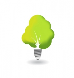 Ecology tree combined with bulb vector