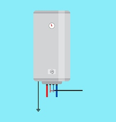 Electric water heater Flat icon for web design and vector