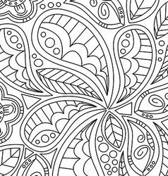 Floral Pattern Hand Drawn Texture with Flowers vector image