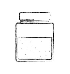 Glass canning jar vector