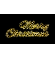 Glitter gold textured inscription Merry Christmas vector