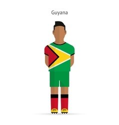 Guyana football player Soccer uniform vector image