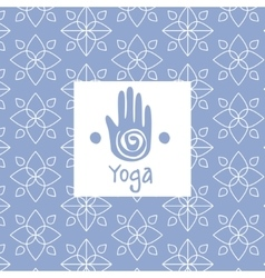Hand Image Yoga Studio Design Card vector