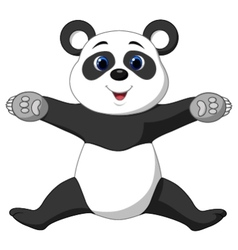 Happy panda cartoon vector