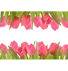 Holiday background with pink beautiful flowers vector