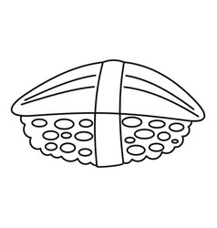 hotate sushi icon outline style vector image
