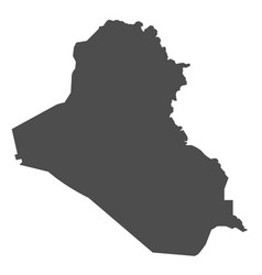 iraq map black icon on white background vector image