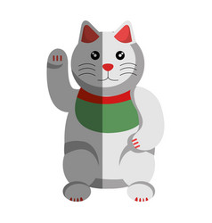 japanese cat lucky icon vector image