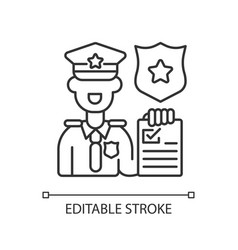 Law enforcement linear icon vector