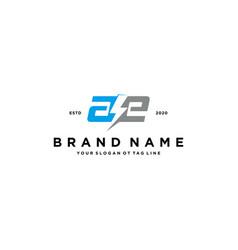 Letter ae electric logo design vector