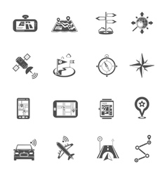 Location Flat Icon Set vector image