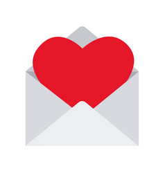 love envelopes with hearts vector image