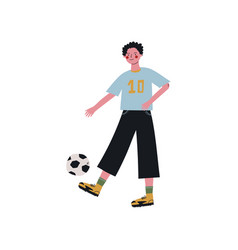 male soccer player kicking ball active healthy vector image
