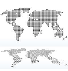 Map of world with with Dot Pattern vector