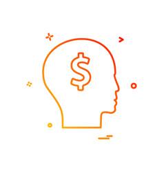 men think dollar icon design vector image