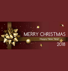 Merry christmas and happy new year 2018 poster vector