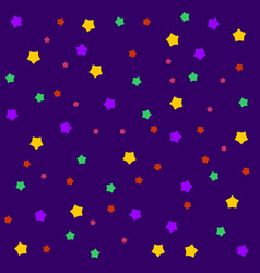 night sky with different color stars seamless vector image