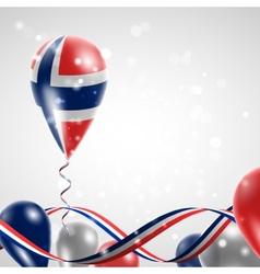 Norwegian flag on balloon vector image