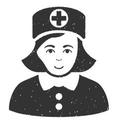 Nurse Grainy Texture Icon vector image
