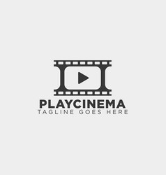 play media cinema simple logo template icon vector image