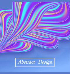 rainbow pastel wave abstract background with blue vector image