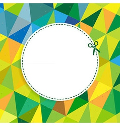 Retro Color Background With Coupon vector image