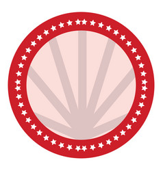 round label icon vector image