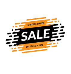 sale banner special offer mega sale design vector image