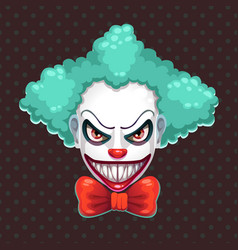 scary clown face vector image