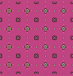 seamless pattern in fantasy medieval style with vector image
