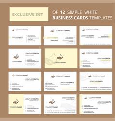 set of 12 shaving foam creative busienss card vector image