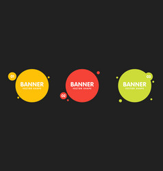 set round colorful shapes abstract banners vector image