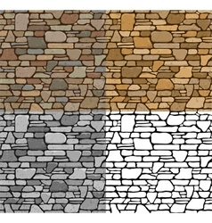 Set seamless stone textures vector