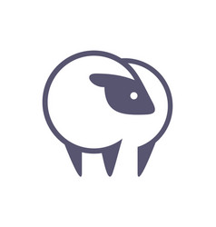 sheep farm logo icon vector image