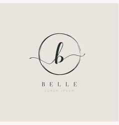 simple elegant initial letter type b logo sign vector image
