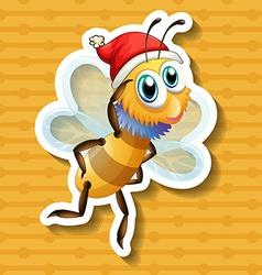 Single bee vector image
