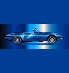 Sleak british sports car vector