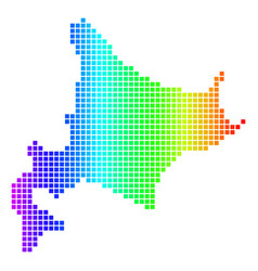 Spectrum dot hokkaido island map vector
