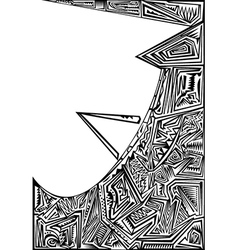 Stencil design vector image