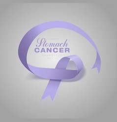 stomach cancer awareness calligraphy poster design vector image