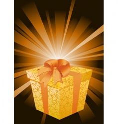 surprise gift vector image