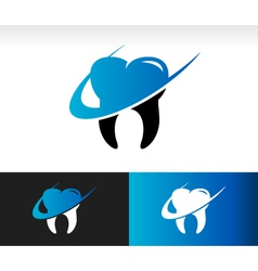 Swoosh Dental Care Logo Icon vector