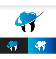 Swoosh dental care logo icon vector