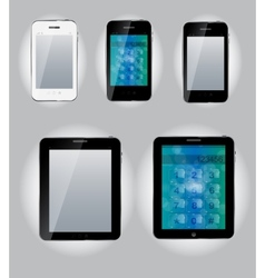 Tablet computer and mobile phone icons vector image