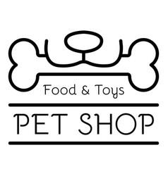 Toy pet shop logo outline style vector