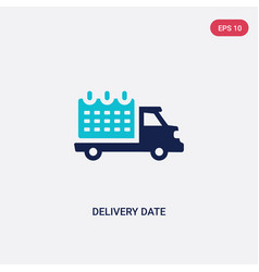Two color delivery date icon from delivery and vector