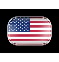 United States of America Flag with Rounded Corners vector