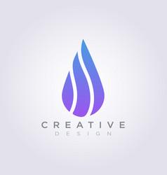 Water drop design clipart symbol logo template vector