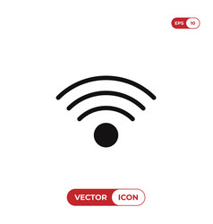 wifi signal icon wireless symbol internet vector image