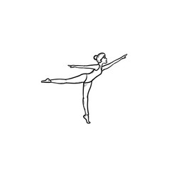 woman dancing hand drawn outline doodle icon vector image